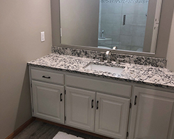 Guest Bathroom remodel project by Traditional Floors & Design Center in Saint Cloud, Minnesota