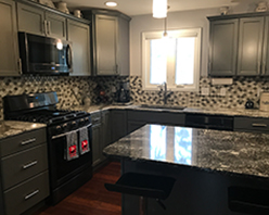 Kitchen backsplash project completed by Traditional Floors & Design Center