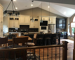 Before and after remodeling project by Traditional Floors in Saint Cloud, MN.