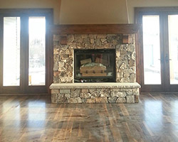 Fireplace Project completed by Traditional Floors & Design Center